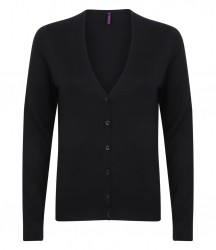 Image 3 of Henbury Ladies Lightweight V Neck Cardigan