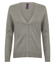 Image 4 of Henbury Ladies Lightweight V Neck Cardigan