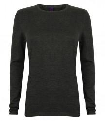 Image 3 of Henbury Ladies Crew Neck Sweater