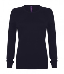 Image 4 of Henbury Ladies Crew Neck Sweater