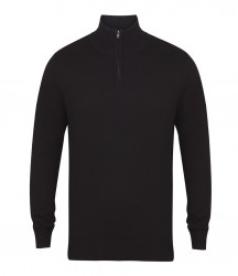 Henbury Zip Neck Sweater image
