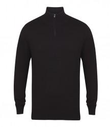 Henbury Zip Neck Sweater image