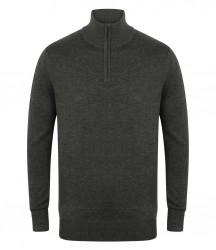 Image 3 of Henbury Zip Neck Sweater