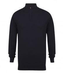 Image 4 of Henbury Zip Neck Sweater