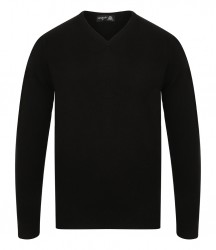 Henbury Lambswool V Neck Sweater image