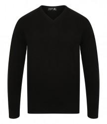 Image 3 of Henbury Lambswool V Neck Sweater