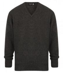 Image 4 of Henbury Lambswool V Neck Sweater