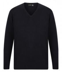 Image 2 of Henbury Lambswool V Neck Sweater