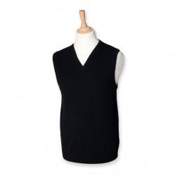 Henbury Lambswool Sleeveless V Neck Sweater image