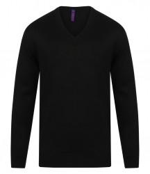 Image 3 of Henbury Acrylic V Neck Sweater