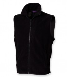 Image 3 of Henbury Sleeveless Micro Fleece Jacket