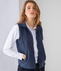 Henbury Ladies Sleeveless Micro Fleece Jacket image
