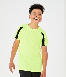 AWDis Kids Cool Contrast Wicking T-Shirt image