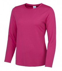 Image 3 of AWDis Just Cool Girlie Long Sleeve T-Shirt
