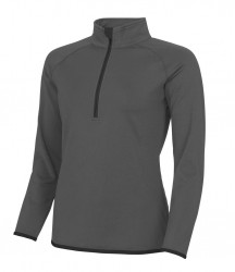 Image 2 of AWDis Cool Girlie Half Zip Sweat Top