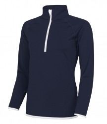 Image 3 of AWDis Cool Girlie Half Zip Sweat Top