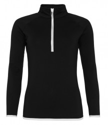 Image 4 of AWDis Cool Girlie Half Zip Sweat Top