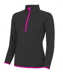 Image 5 of AWDis Cool Girlie Half Zip Sweat Top