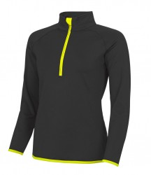 Image 6 of AWDis Cool Girlie Half Zip Sweat Top
