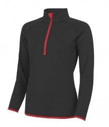 Image 7 of AWDis Cool Girlie Half Zip Sweat Top