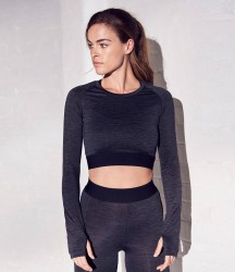 AWDis Cool Girlie Long Sleeve Crop Top image
