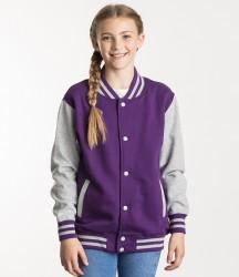 AWDis Kids Varsity Jacket image