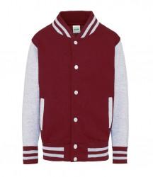 Image 2 of AWDis Kids Varsity Jacket