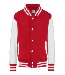 Image 3 of AWDis Kids Varsity Jacket