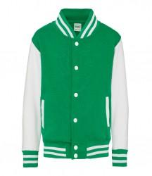 Image 10 of AWDis Kids Varsity Jacket