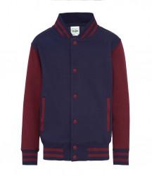 Image 11 of AWDis Kids Varsity Jacket
