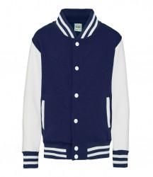 Image 13 of AWDis Kids Varsity Jacket