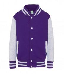 Image 14 of AWDis Kids Varsity Jacket