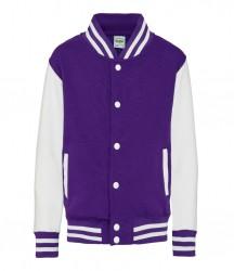 Image 15 of AWDis Kids Varsity Jacket