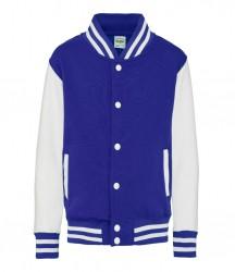 Image 16 of AWDis Kids Varsity Jacket
