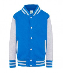 Image 17 of AWDis Kids Varsity Jacket