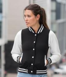 AWDis Girlie Varsity Jacket image