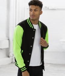 AWDis Electric Varsity Jacket image