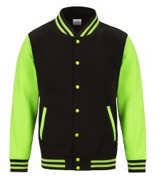 Image 5 of AWDis Electric Varsity Jacket