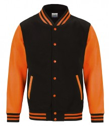 Image 4 of AWDis Electric Varsity Jacket