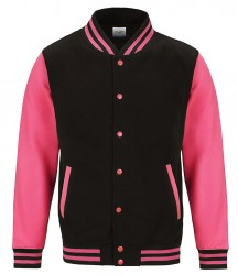 Image 3 of AWDis Electric Varsity Jacket