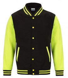 Image 2 of AWDis Electric Varsity Jacket