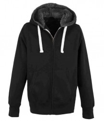 Image 3 of AWDis Unisex Fur Lined Chunky Zoodie