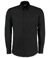 Kustom Kit Premium Long Sleeve Slim Fit Oxford Shirt image