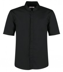 Kustom Kit Bargear® Short Sleeve Mandarin Collar Shirt image