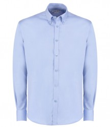 Kustom Kit Long Sleeve Slim Fit Oxford Twill Shirt image