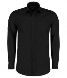 Kustom Kit Long Sleeve Tailored Poplin Shirt image
