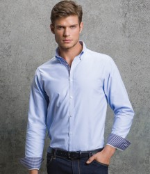 Clayton and Ford Long Sleeve Contrast Tailored Oxford Shirt image