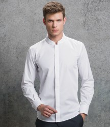 Kustom Kit Long Sleeve Tailored Mandarin Collar Shirt image