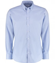 Image 1 of Kustom Kit Slim Fit Stretch Long Sleeve Oxford Shirt
