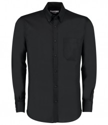 Kustom Kit Long Sleeve Slim Fit Workwear Oxford Shirt image